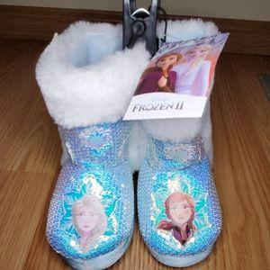 Frozen girl's slipper boots